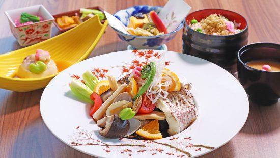 桜鯛と春野菜御膳
