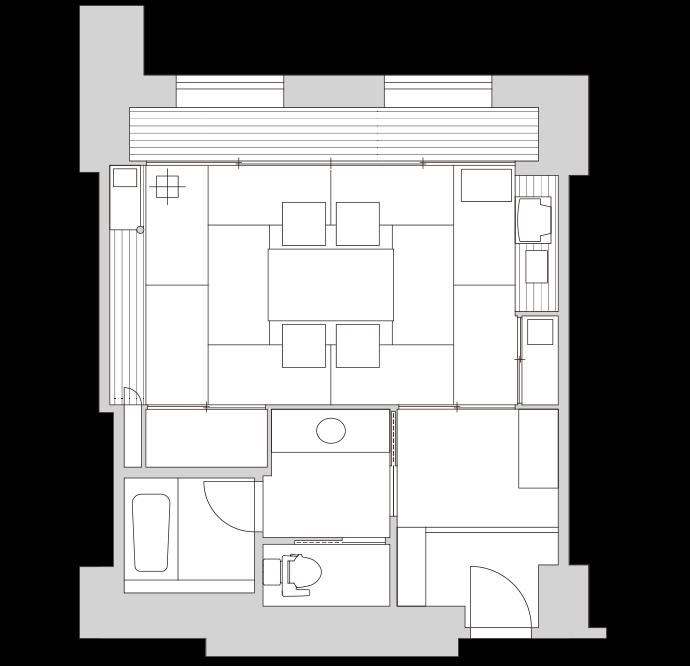 客室間取図