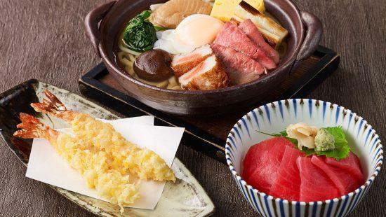 鍋焼きうどんと小丼セット【平日限定10セット】