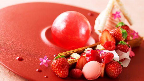 苺デザートプレート