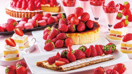 苺とチーズケーキのデザートビュッフェ(3月)